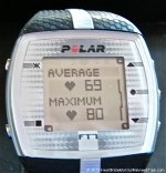 Polar FT7 Heart Rate Monitor Menu Average Max Heart Rate
