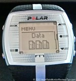 Polar FT7 Heart Rate Monitor Menu Data Review