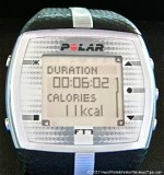 Polar FT7 Heart Rate Monitor Menu Duration Calories