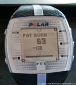 Polar FT7 Heart Rate Monitor Menu Training Effect