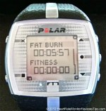 Polar FT7 Heart Rate Monitor Menu Time Training Effect