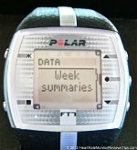 Polar FT7 Heart Rate Monitor Menu Week Summaries