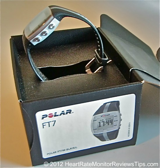 Polar FT7 Heart Rate Monitor Open Box Side View