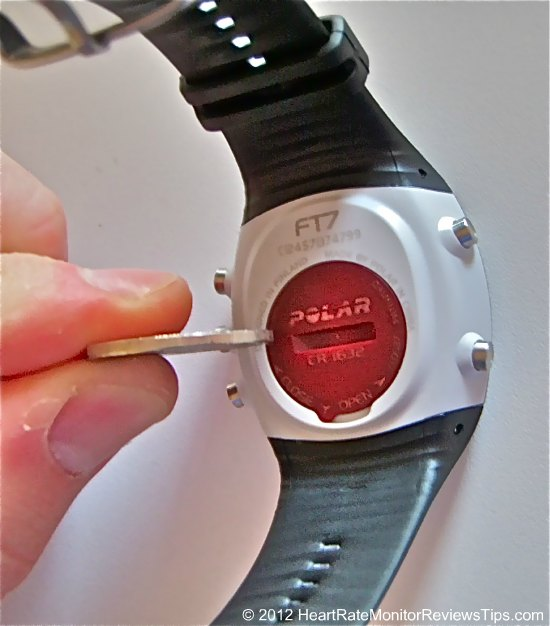 Polar FT7 Heart Rate Monitor User Replace Battery1