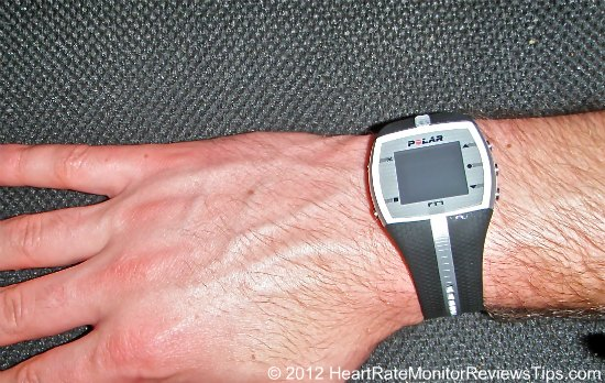 Polar FT7 Heart Rate Monitor On Wrist